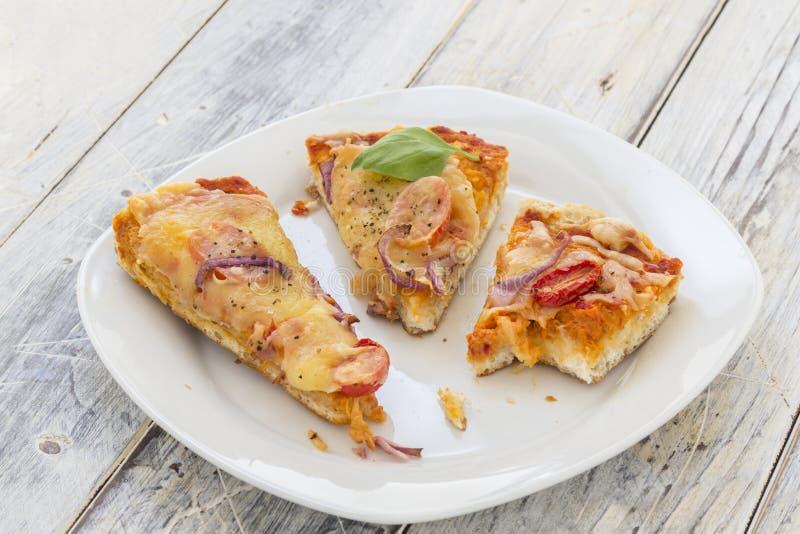 Pizza restante foto de stock royalty free