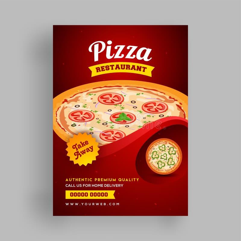 Pizza Restaurant flyer or template design for food corners. Pizza Restaurant template or flyer design for food corners vector illustration