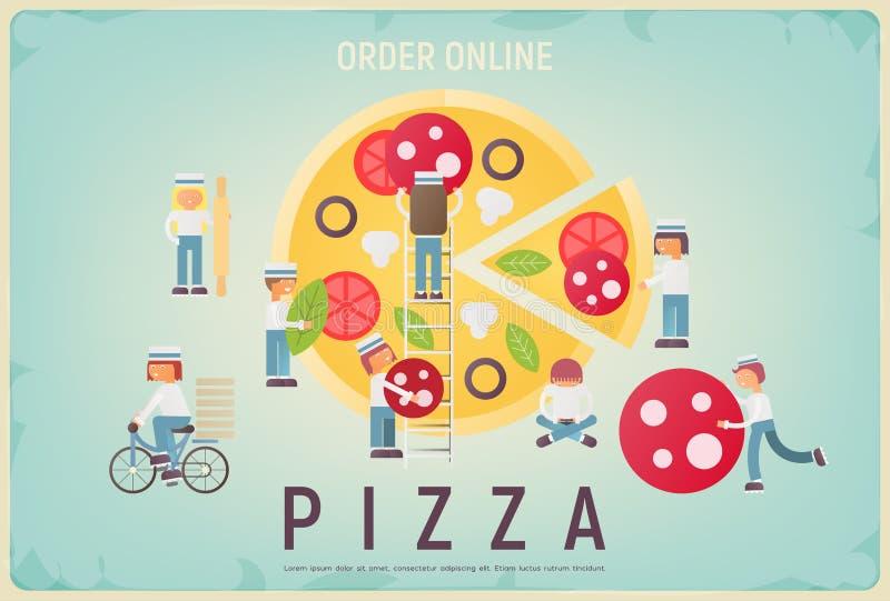 Pizza rozkaz Online ilustracja wektor