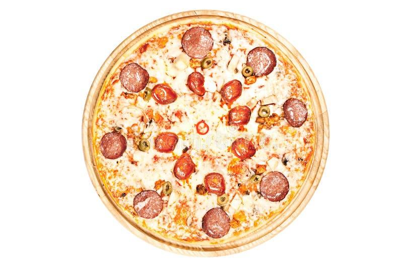 Pizza sabrosa con las sales imagenes de archivo