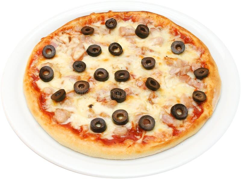 Pizza Salsiche fotografia de stock royalty free