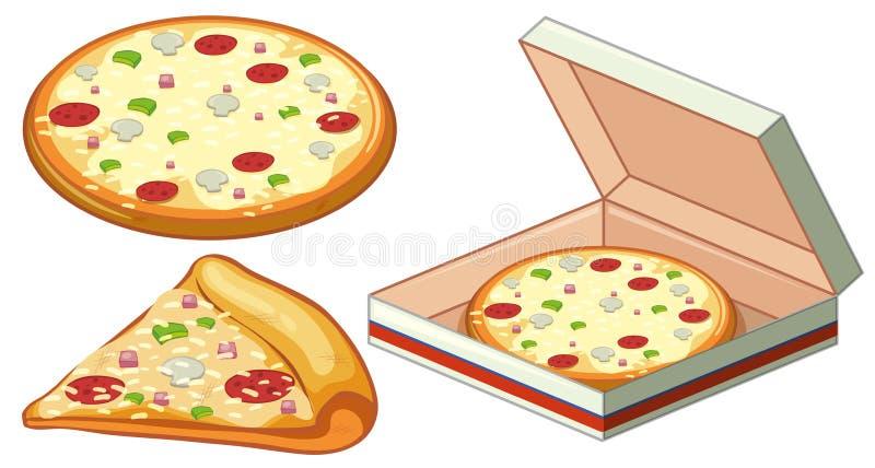 Pizza in scatola di carta royalty illustrazione gratis
