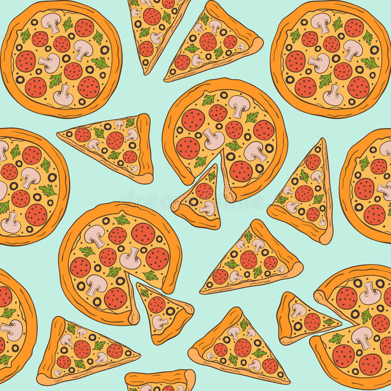 repeating pizza background - photo #29
