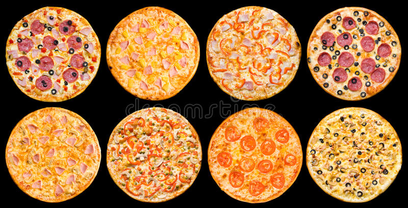 Pizza set royalty free stock photography