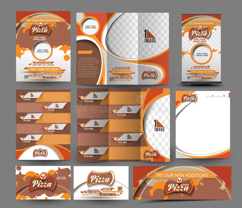 Download Pizza Shop Business Stationery Stock Photo - Image: 56105514