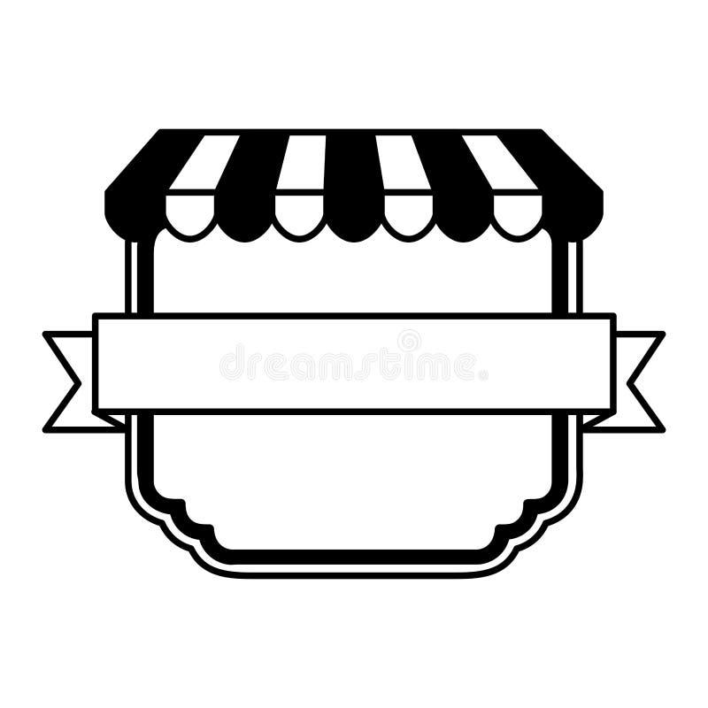 Pizza shop frame icon. Vector illustration design royalty free illustration