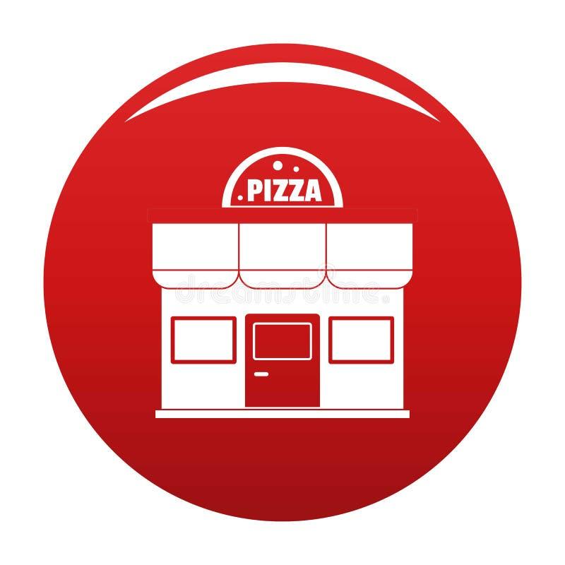 Pizza shoppar den röda symbolsvektorn vektor illustrationer