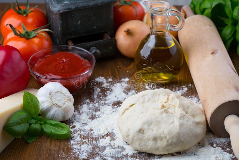 Pizza składniki zdjęcie stock