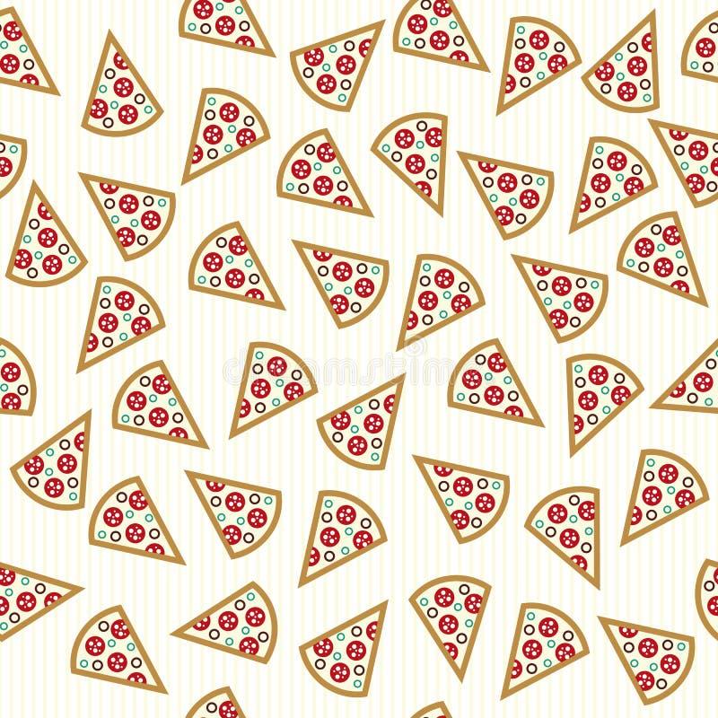 Pizza skivar den sömlösa modellen vektor illustrationer