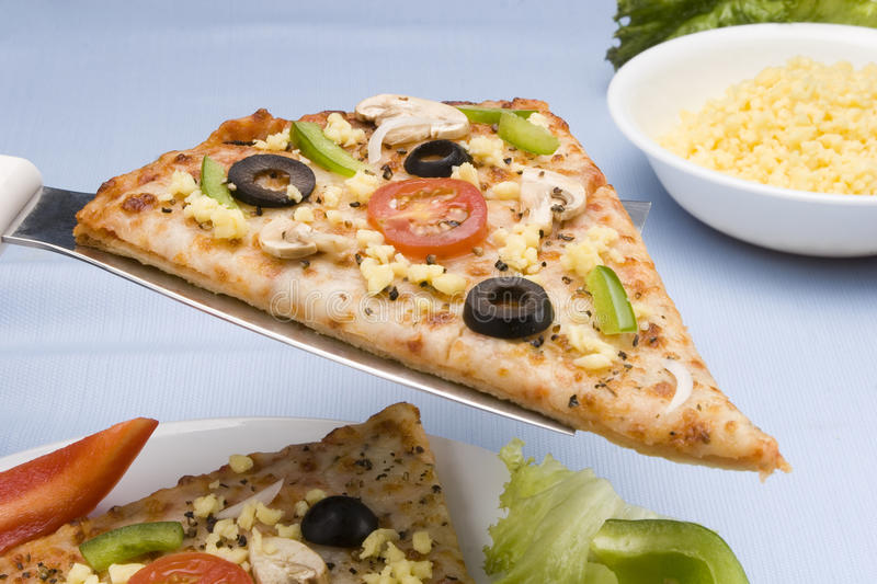 Download Pizza slice stock photo. Image of dish, hold, ingredients - 11549958