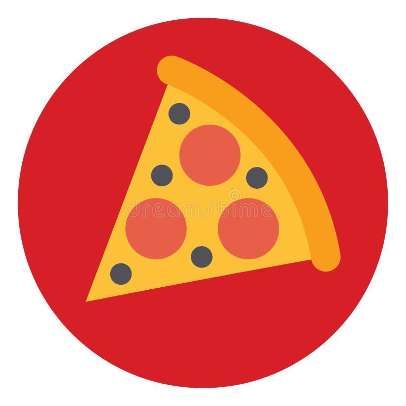 Pizza slice food smart technology business card icon flat web sign symbol logo label. Set royalty free illustration