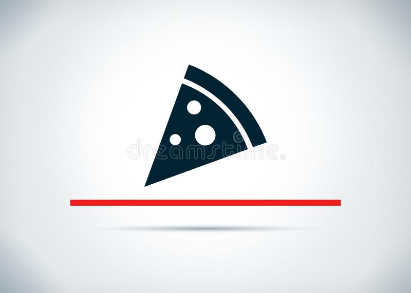 Pizza slice icon abstract flat background design illustration. Pizza slice icon isolated on abstract flat background design illustration stock illustration