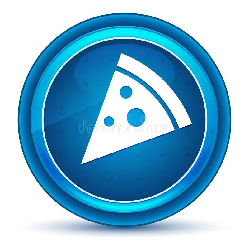 Pizza slice icon eyeball blue round button royalty free illustration