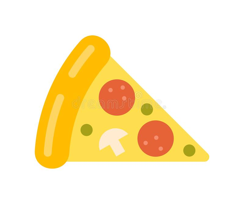 Pizza slice icon. Isolated on white background royalty free illustration