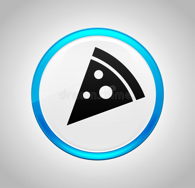 Pizza slice icon round blue push button royalty free illustration