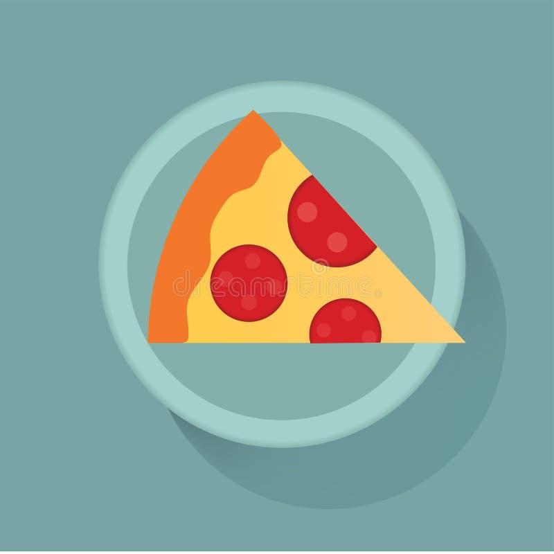 Pizza slice icon vector illustration Concept. Pizza slice icon vector illustration royalty free illustration