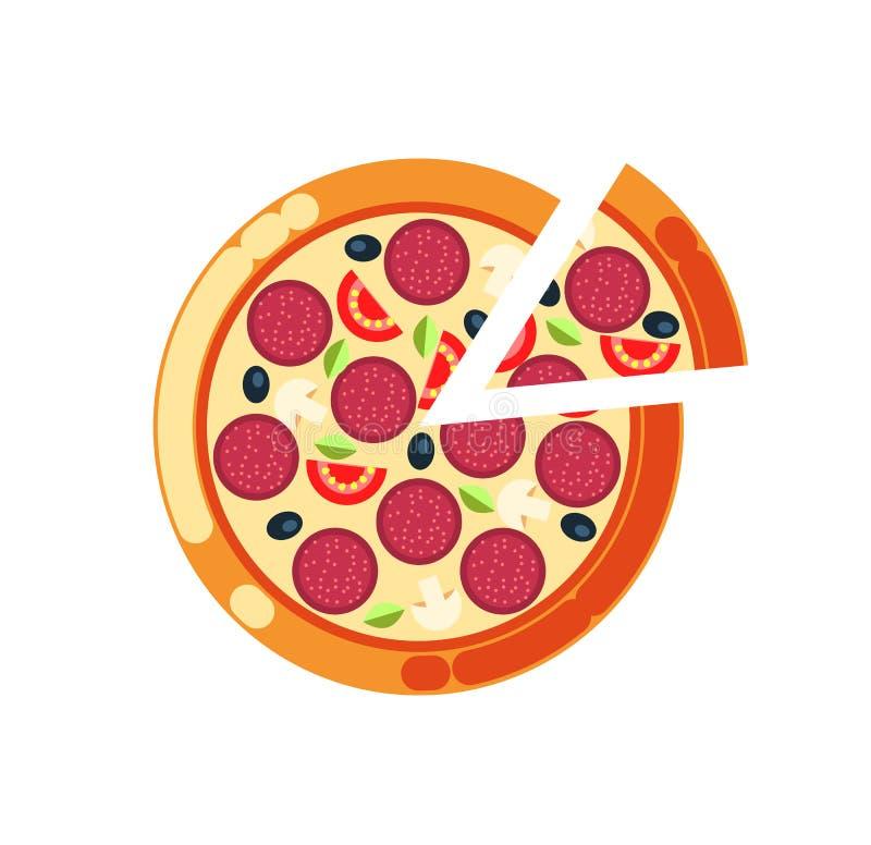 Pizza Slice, Pizzeria Italian Food Cuisine Icon royalty free illustration