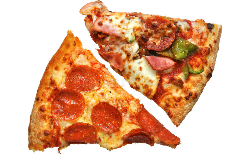Download Pizza Slices (with Clipping Path) Royalty Free Stock Images - Image: 8734649