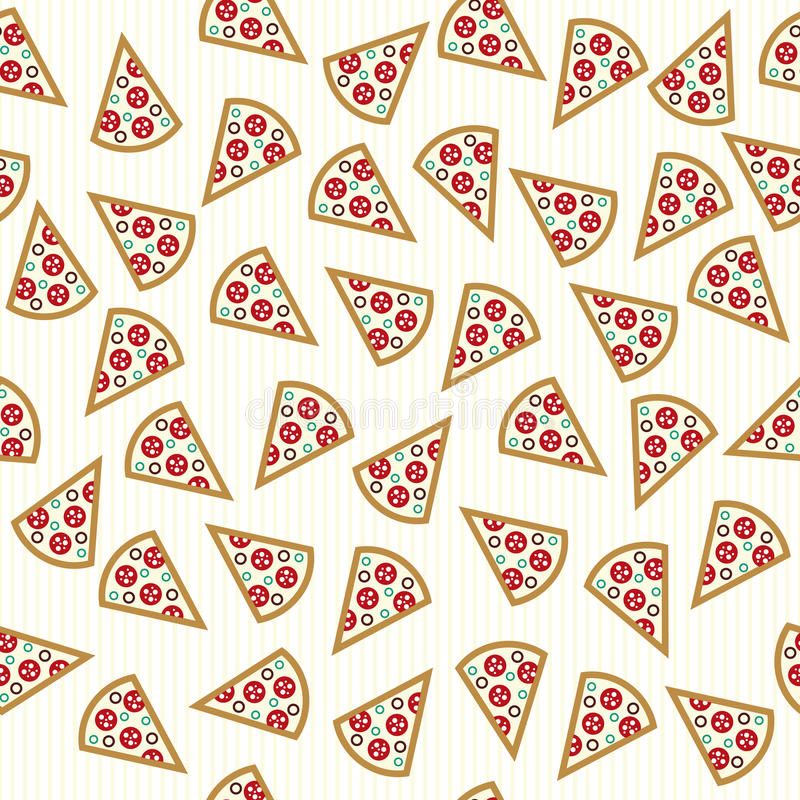 The Pizza Slices Seamless Pattern Stock Vector ...