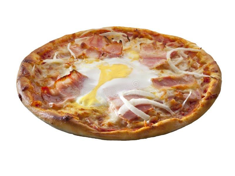 Pizza som över isoleras fotografering för bildbyråer