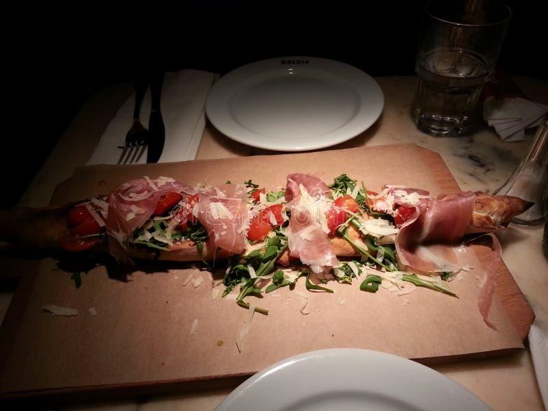 Pizza Spanien lizenzfreies stockfoto