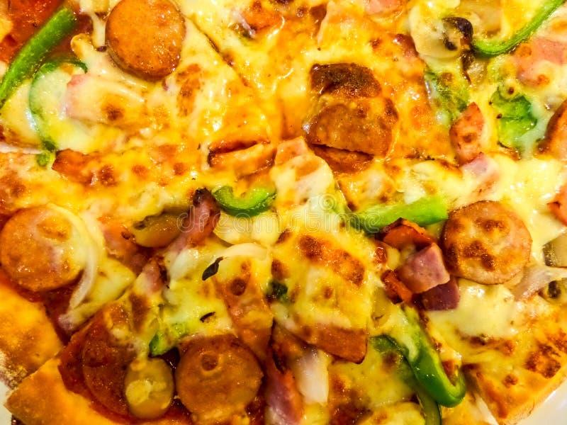 Pizza supreme royalty free stock photo