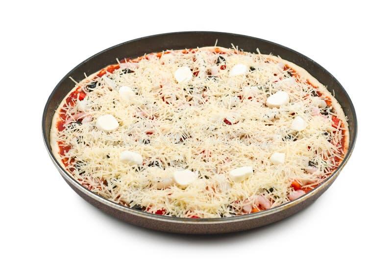 pizza surowa zdjęcie royalty free