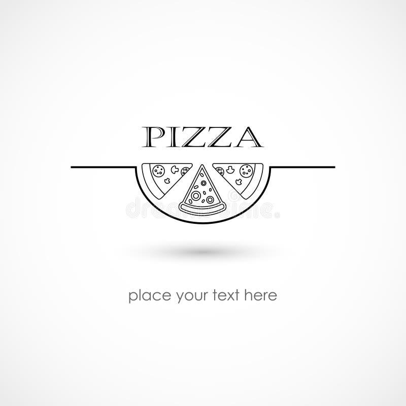 Pizza symbol royalty ilustracja