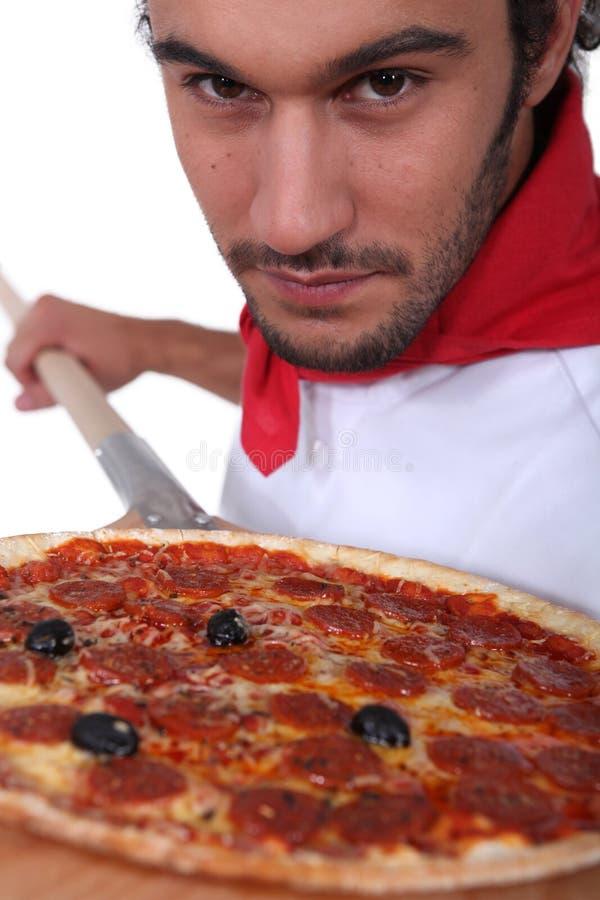 Pizza szef kuchni obrazy royalty free