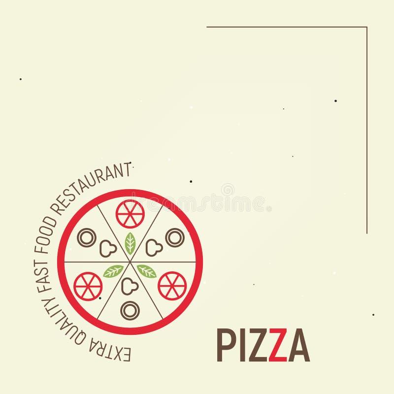 Pizza Template Menu royalty free illustration