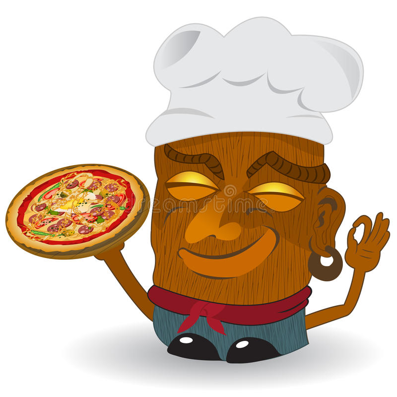 Pizza tiki royalty free illustration