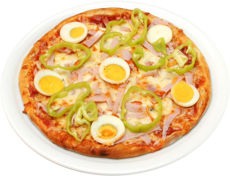Pizza Toscana royalty free stock images