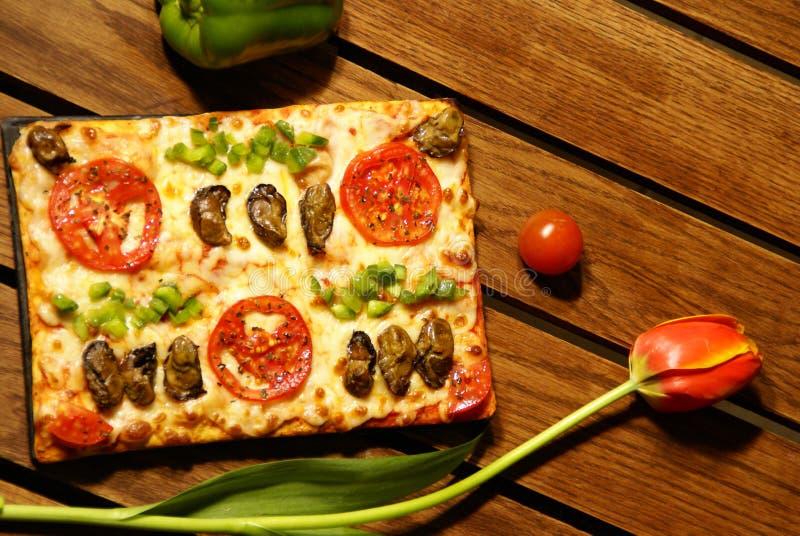 Pizza Tulip royalty free stock photos