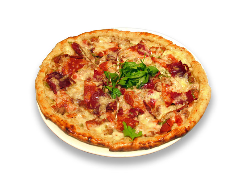 Pizza turca fotografia de stock
