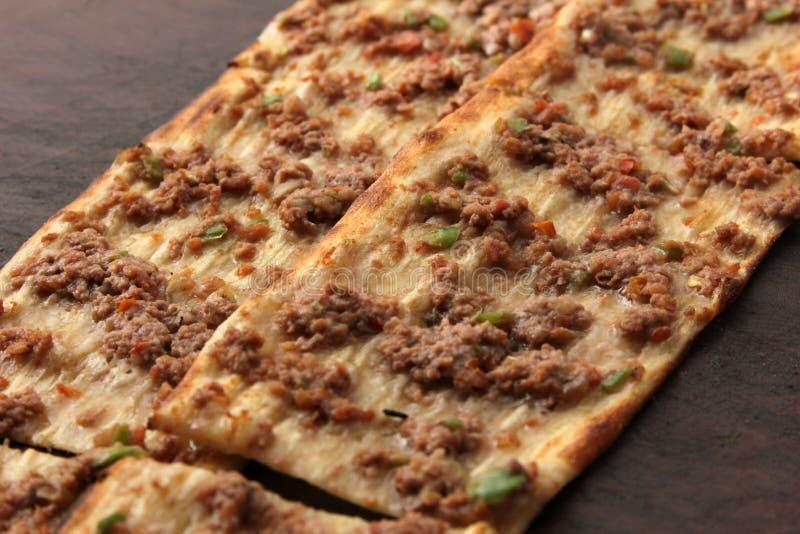 Pizza turca fotografia stock