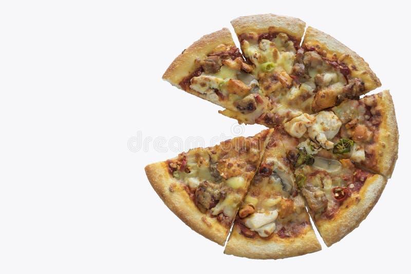 Pizza una che manca fotografia stock