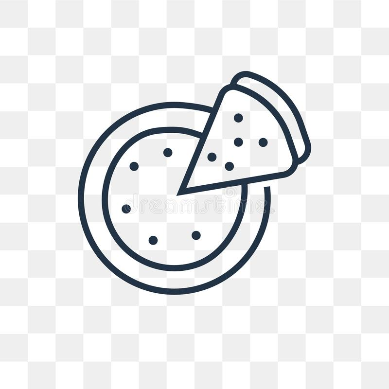 Pizza vector icon isolated on transparent background, linear Pizza transparency concept can be used web and mobile vector illustration