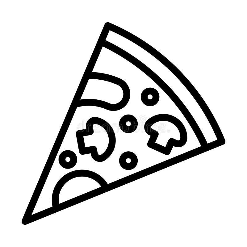 Pizza vector icon. Italian fast food cafe logo illustration. Pizzeria icon. vector illustration