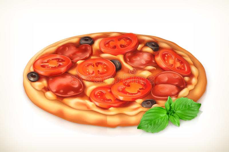 Pizza vector illustration royalty free illustration