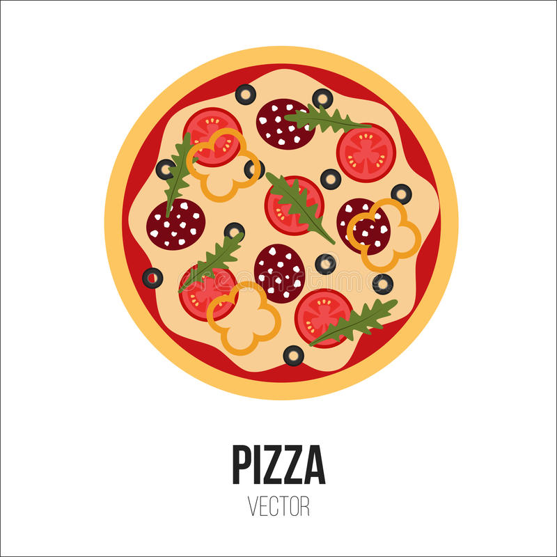 Pizza Vector Isolated Element royalty free stock images