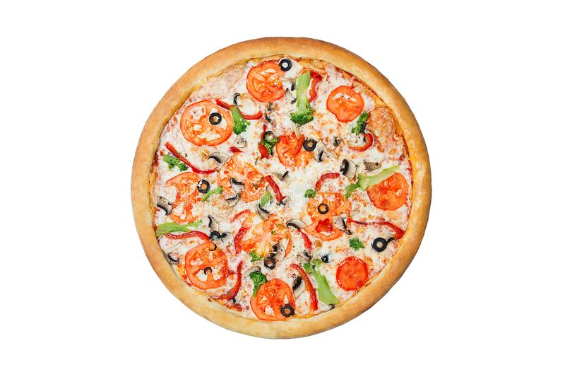 Pizza vegetal colorida fotografía de archivo libre de regalías