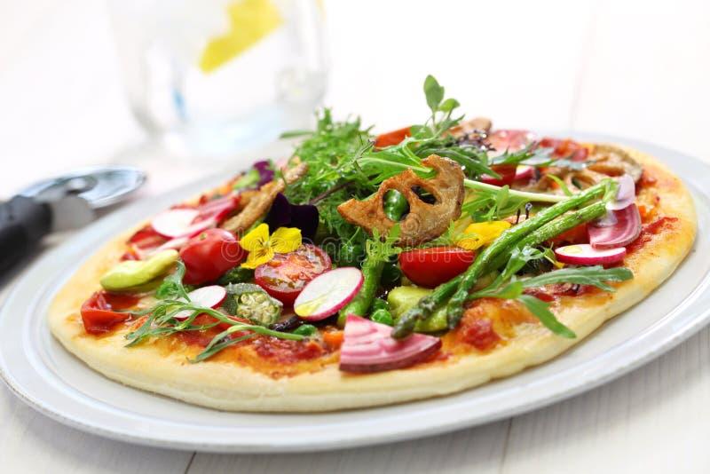Pizza vegetal sana fotografía de archivo libre de regalías