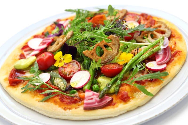Pizza vegetal sana foto de archivo libre de regalías