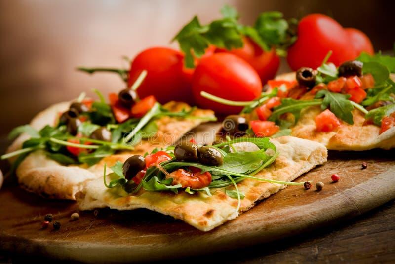 Pizza vegetariana fotografía de archivo