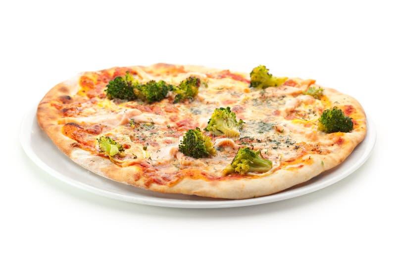 Pizza vegetariana immagini stock