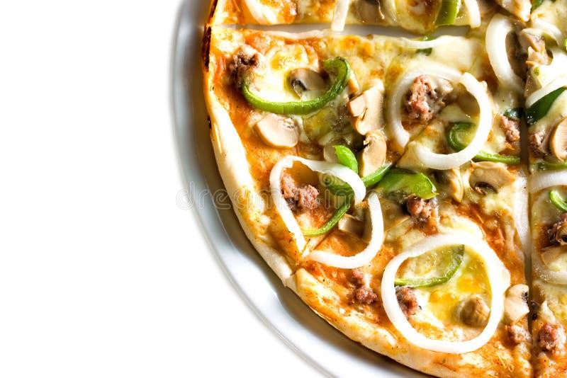 Pizza vegetariana caliente imágenes de archivo libres de regalías