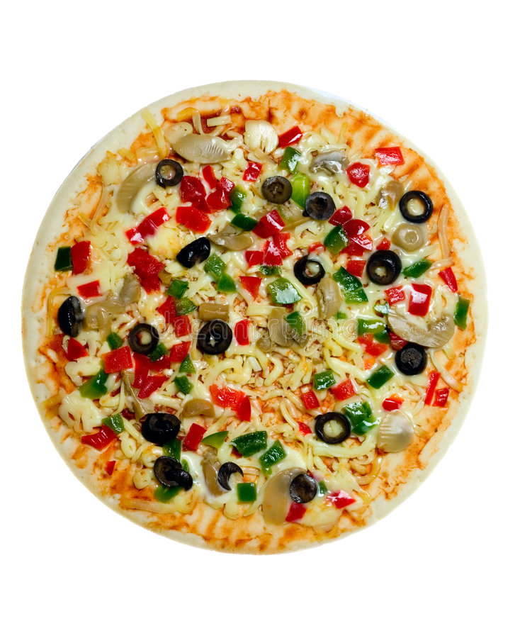 Pizza vegetariana cruda immagine stock libera da diritti