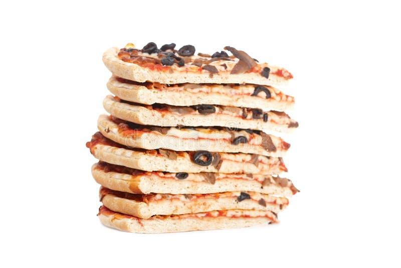 pizza włoscy plasterki brogowali smakowitego obrazy stock