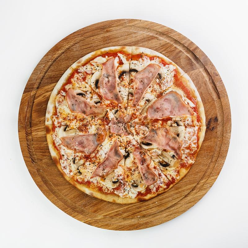 Best Pizza italian food. Pizza on white background, Italian food royalty free stock photography