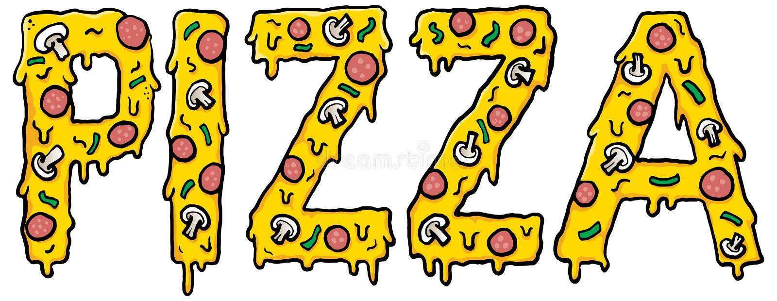Everyone loves Pizza! royalty free illustration